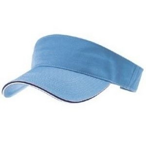 Outlet Youth Garment Washed Cotton Twill Visor w/Double Sandwich Visor