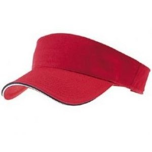 Outlet Garment Washed Youth Cotton Twill Visor w/Double Sandwich Visor