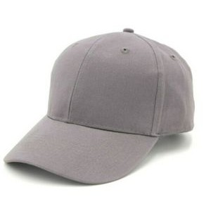 6 Panel Structured Classic Baseball Cap, Light Brushed Cotton Twill w/ Velcro Closure